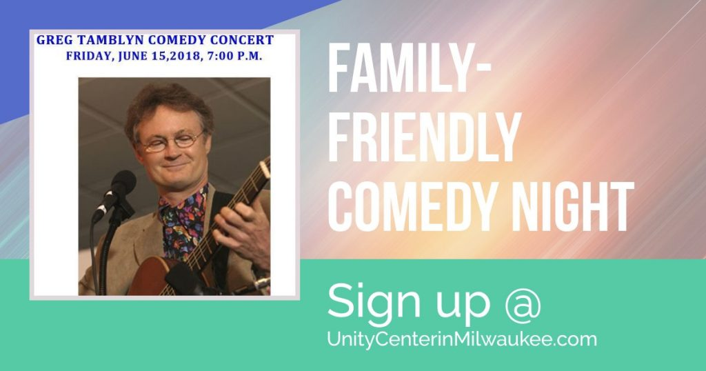 Greg Tamblyn Concert June 15, 7 pm at Unity Center in Milwaukee